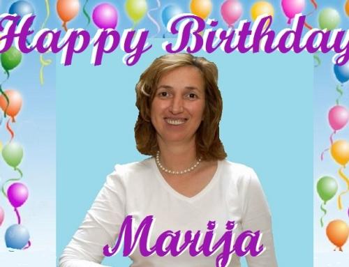 A HAPPY & BLESSED BIRTHDAY MARIJA.