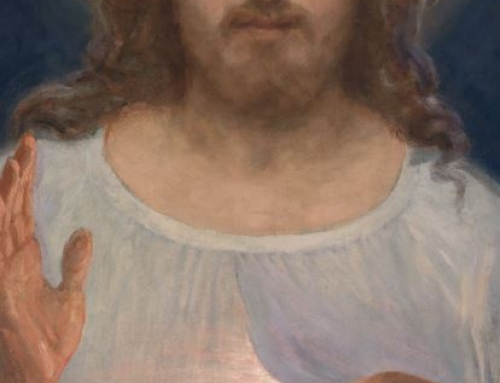 The painting of the Divine Mercy image