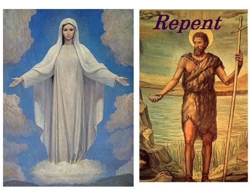 ST. JOHN THE BAPTIST AND OUR LADY OF MEDJUGORJE….. PREPARE THE WAY OF THE LORD.