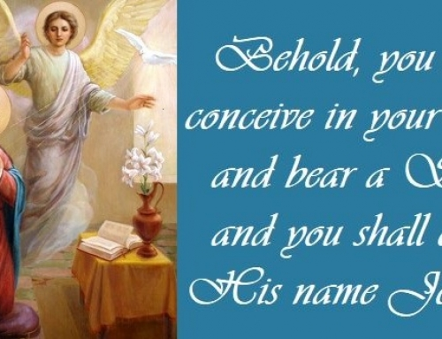 SOLEMNITY OF THE ANNUNCIATION OF OUR LORD.